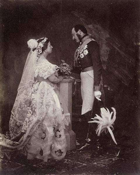 Prince Albert and Queen Victoria, Buckingham Palace, May 11, 1854.