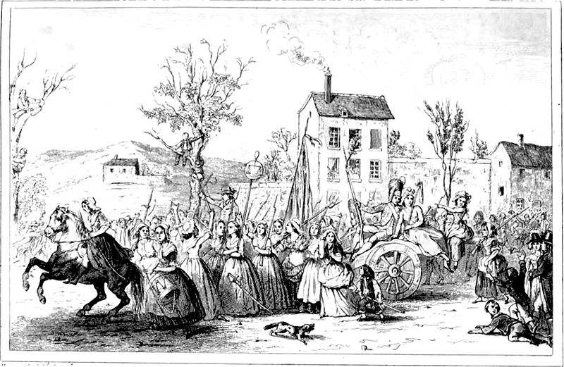 The March of Women to Versailles on the 5th and 6th of October 1789.