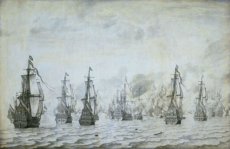 Naval battle between the Spanish and Dutch