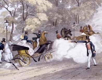Detail of lithograph by J. R. Jobbins of Edward Oxford attempting to shoot Queen Victoria