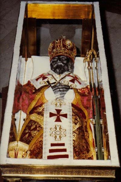 The Incorrupt body of St. Josaphat.