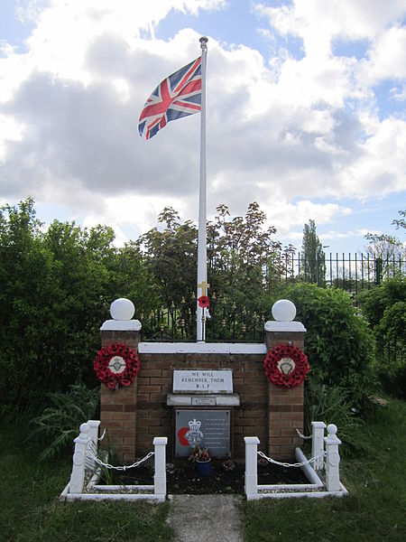 Memorial at Netherley Royal British Legion Club, Liverpool, England. Photo by Rept0n1x