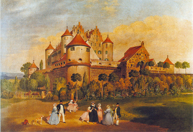 Painting of Erbach Castle by Franz Xaver Müller