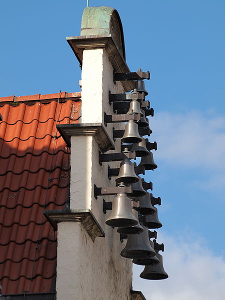 Carillons on the Old Town Hall in Haltern am See, which is in North Rhine-Westphalia, Germany. Photo by Arnoldius