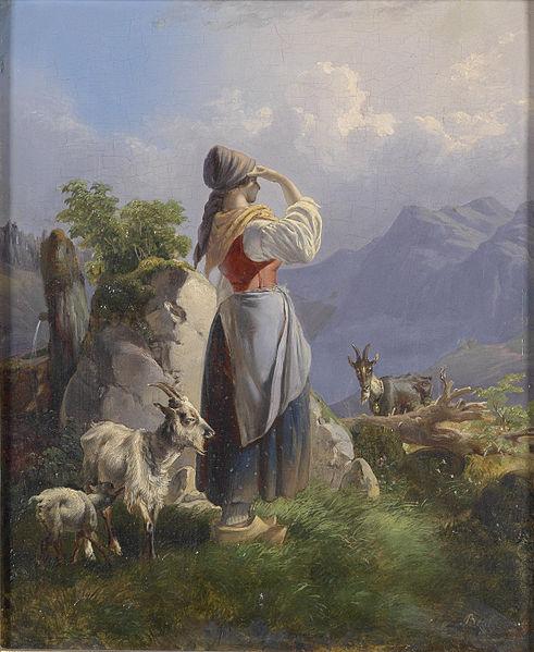 The Shepherdess by Emerich Benkert.
