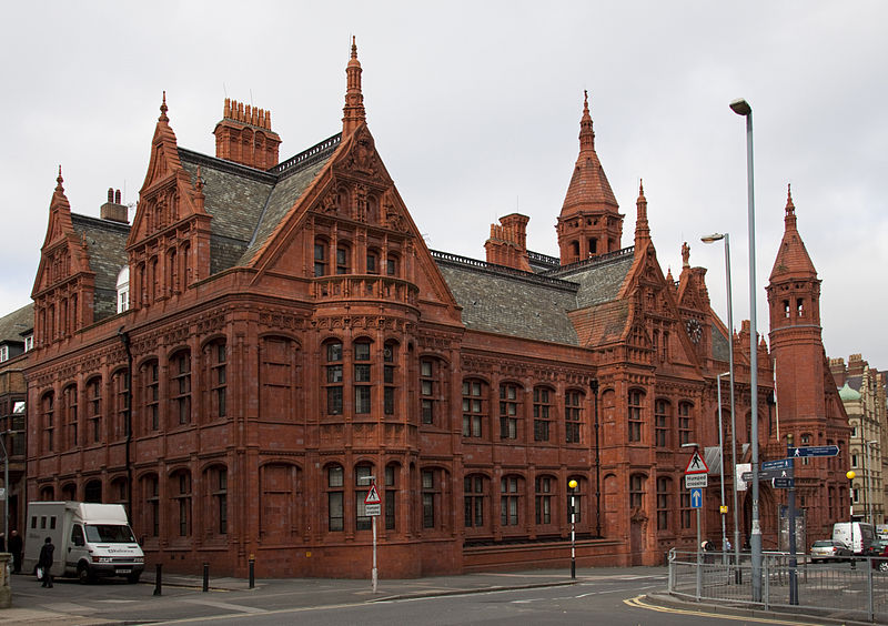 Victoria Law Courts built between 1887 and 1891 in Birmingham, England. Photo by Tony Hisgett.