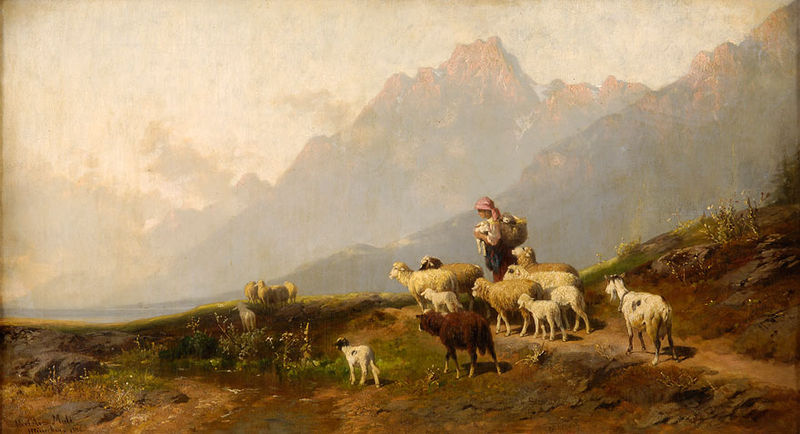 The young shepherdess, painted by   Christian Friedrich Mali