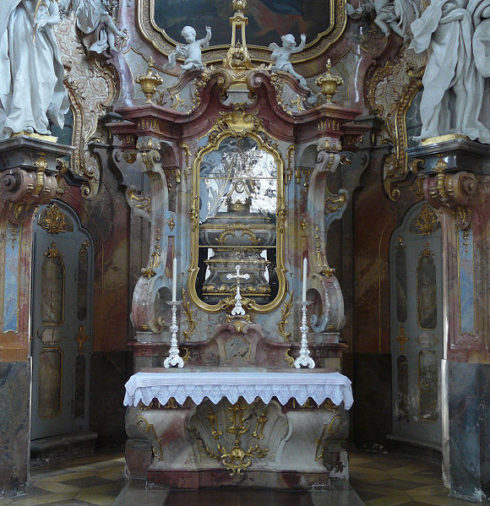 Altar of Saint Nicholas of Myra at Ottobeuren Abbey, Ottobeuren, Germany.