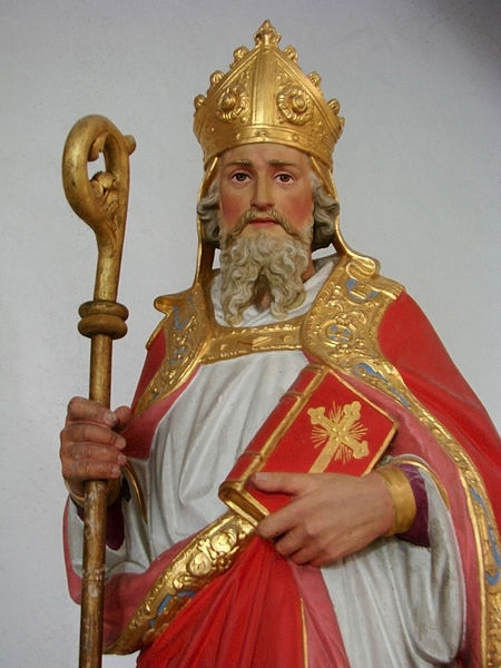 Statue of St. Nicholas in Bourcq, France.