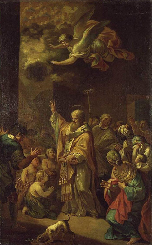 Painting of St. Nicholas by Bon Boullogne.