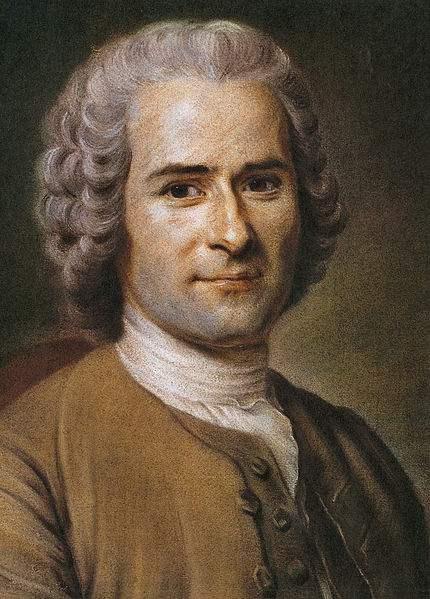Painting of Jean-Jacques Rousseau by Maurice Quentin de La Tour.