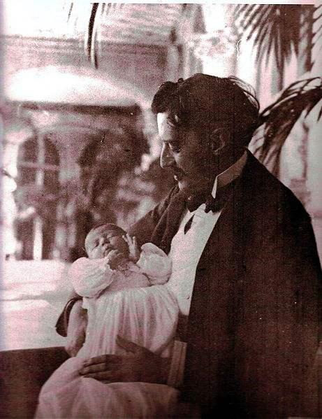 George W Vanderilbt II with his daughter Cornelia Stuyvesant Vanderbilt.