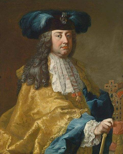 Painting from the Workshop of Martin van Meytens of Francis I, Holy Roman Emperor.