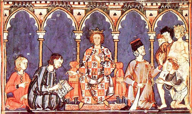 King Alfonso X and his court.