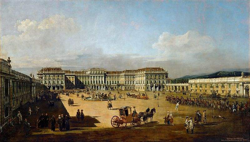 Painting of the Schönbrunn Palace by Bernardo Bellotto
