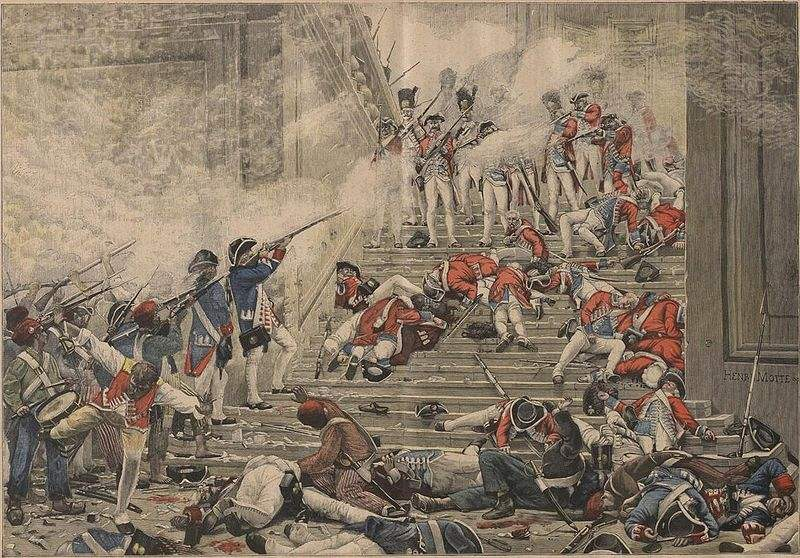 Massacre of the Swiss Guards. Painting by Henri-Paul Motte