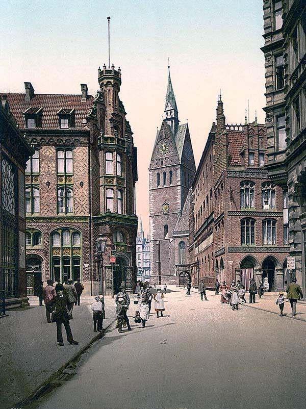 1890-1900 photo of the Market Church in Hanover, Germany.