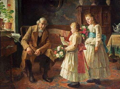 Grandfather's birthday by Paul Eugène Gorge