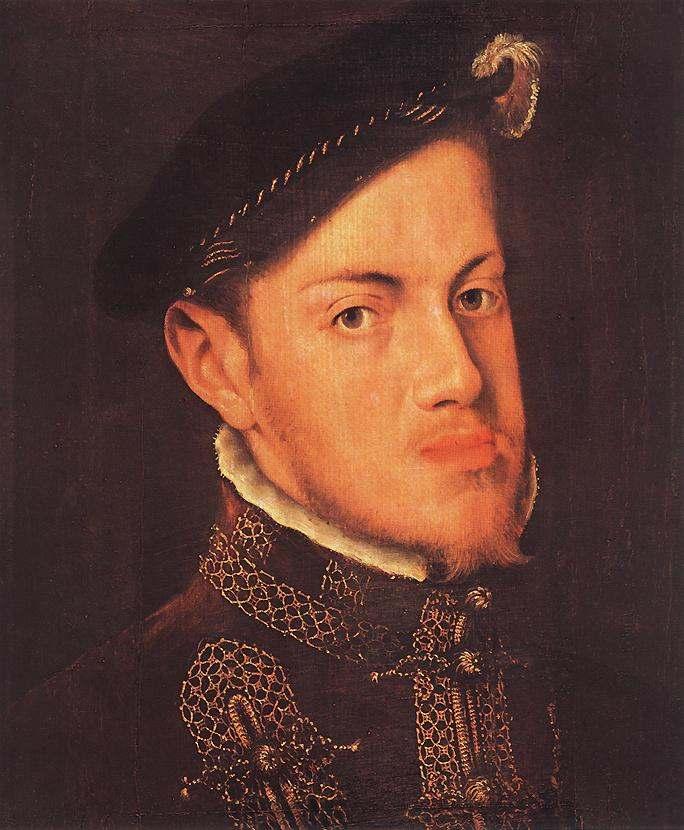 Portrait of the Philip II King of Spain by Mor Van Dashorstanthonis Van Dashorst, 1554