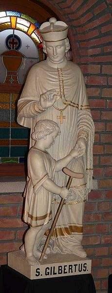 St. Gilbert of Sempringham, sculpture at Essen (Belgium)