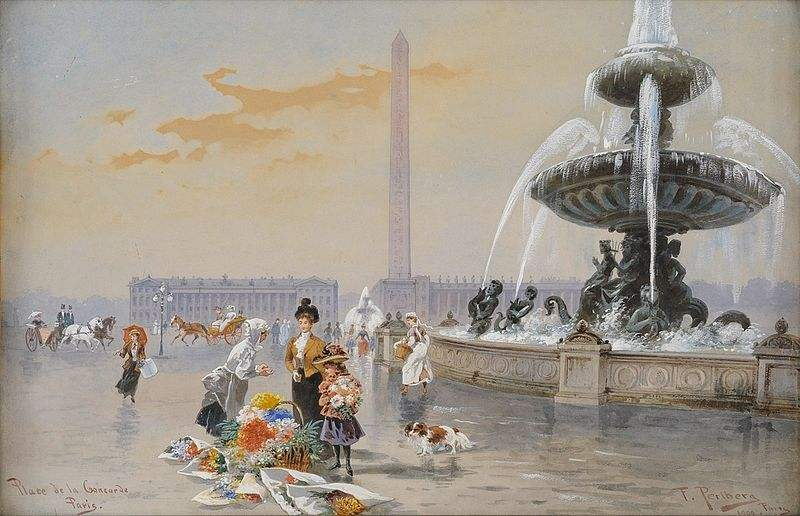 Place de la Concorde by Friedrich Perlberg