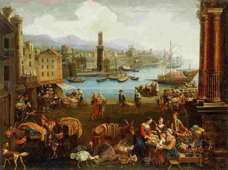 Food Market by Peeter Bolckman