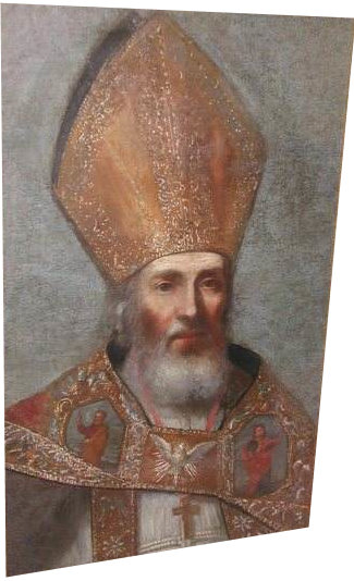 Painting of St. Fulcran by François Matet.