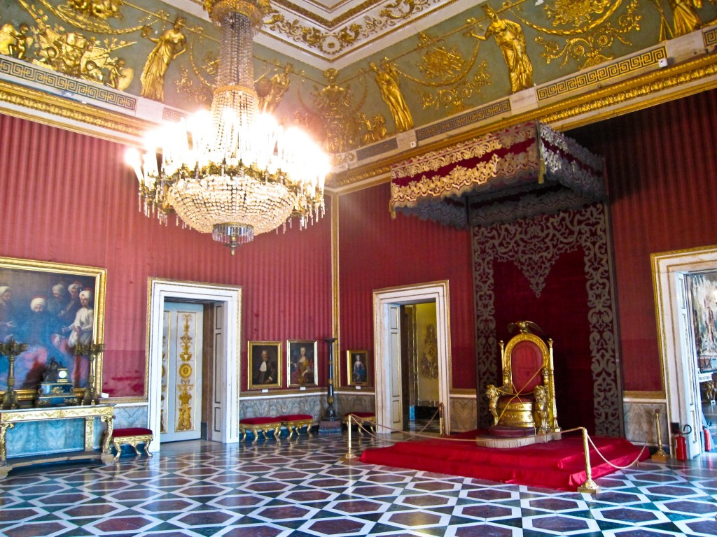 One of the rooms inside the Royal Palace. Naples, Italy. Photo by Armando Mancini