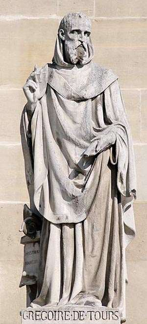 Statue of St. Gregory of Tours at the Louvre.
