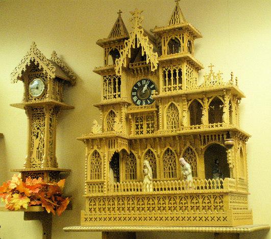 Two handmade clocks