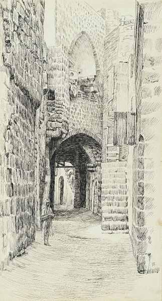 A Street in Jaffa by James Tissot