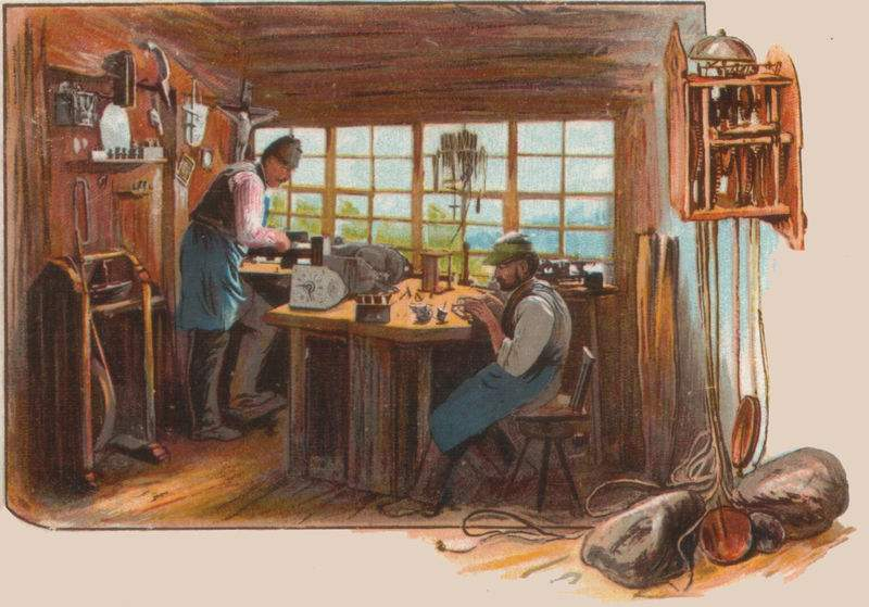 Clockmakers in the Black Forest