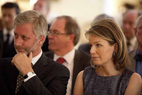 King Philippe of Belgium and his wife Queen Mathilde. Photo by the Ministério da Cultura.