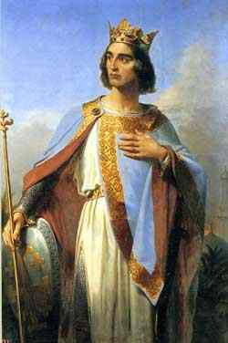 Baldwin I, King of Jerusalem, painted by Merry-Joseph Blondel