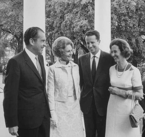 Luncheon honoring King Baudouin I and Queen Fabiola of Belgium at the White House with President Richard Nixon and First Lady Patricia Nixon.