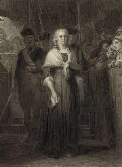 Marie Antoinette before the Tribunal. Painting by Alphonse François