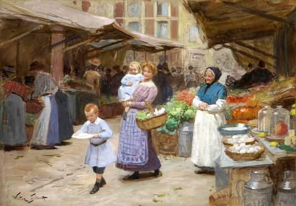 The Market by Victor Gabriel Gilbert
