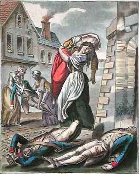 Women helping the injured during the French Revolution