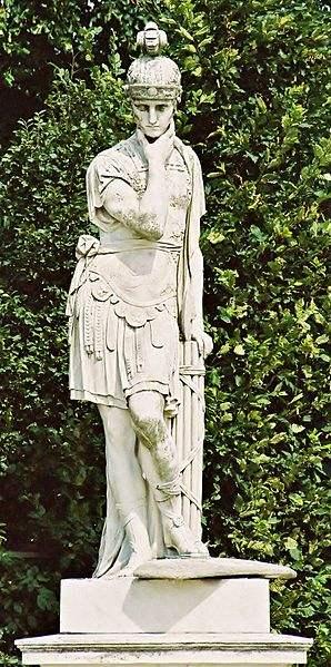 Quintus Fabius Maximus Verrucosus Cunctator (ca. 280 BC – 203 BC), statue in the Schönbrunn gardens in Vienna.