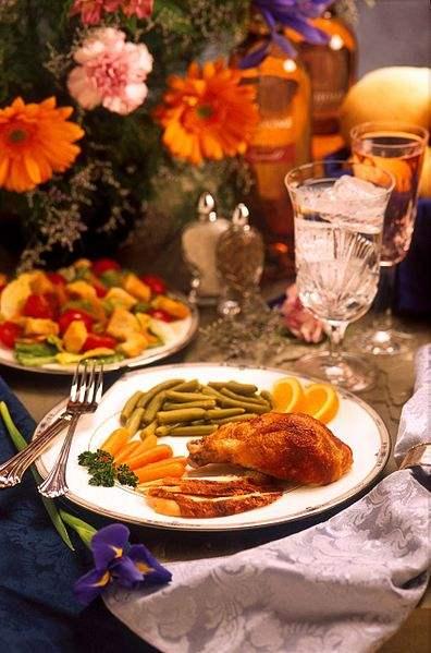 A fancy meal