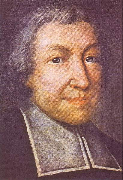 Official portrait of St. John Baptist de La Salle, the Founder of the Brothers of the Christian Schools. It is by Pierre Leger and has been designated at the official portrait of him for the Congregation.