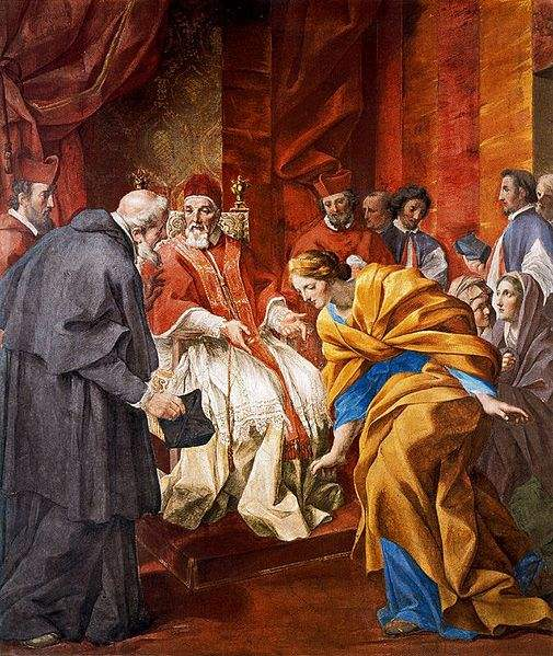 he Meeting of the Countess Matilda and Anselm of Canterbury in the Presence of Pope Urban II, painted byGiovanni Francesco Romanelli.