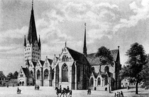 The Cathedral of Paderborn in 1842.