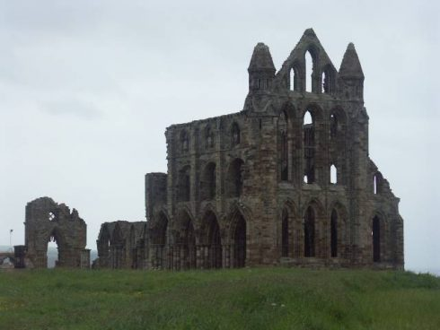 The Ruins of Whitby Abbey. In 1914 the abbey was shelled by the German Fleet.