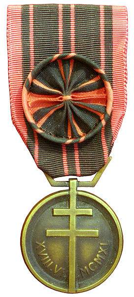 The French Resistance medal, photo by Rama.