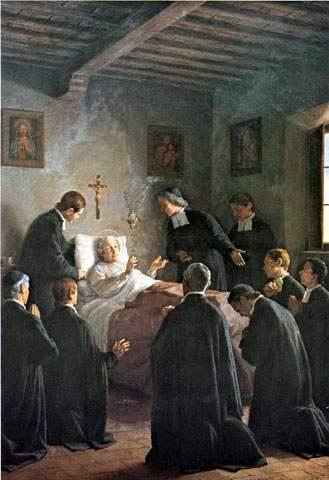The death of St. John Baptist de La Salle.
