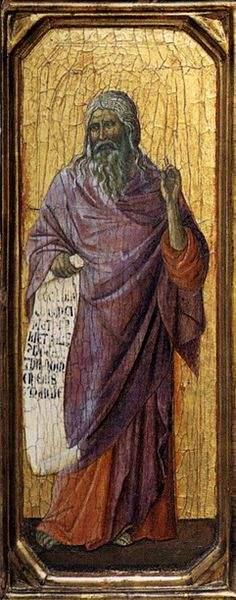 Isaiah by Duccio (on wood).
