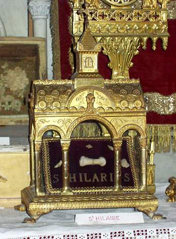 Relic of St. Hilary of Arles, in the Cathedral of Sant Tròfim d'Arle.