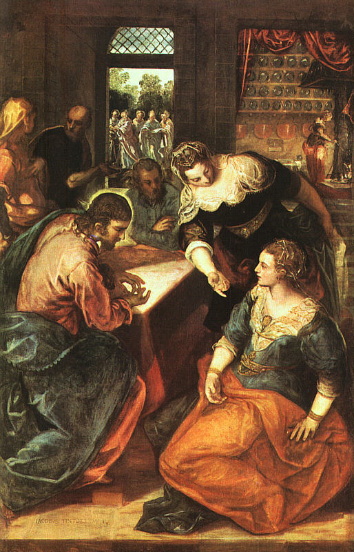 Jesus at the home of Martha and St. Mary Magdalene by Tintoretto