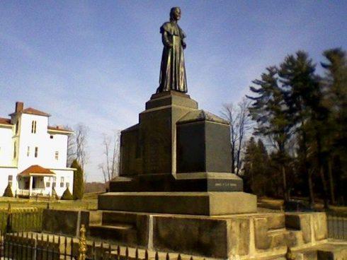 The tomb of Fr. Demetrius Augustine Gallitzin at St. Michael's Catholic Cemetery in Loretto, Pennsylvania.